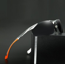 70-16-148 The new aluminum magnesium polarized sunglasses men's fashion trendsetter coating gafas de sol hombre pilot sunglasses