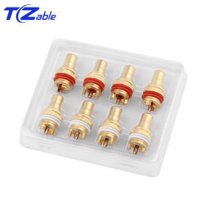 Image 5 - HiFi Plug Connector RCA Audio Connector Female Socket Chassis For CMC Connectors Rhodium Plated Copper Jack Copper Plug