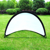 Outdoor Soccer Football Goal Net Portable Folding Black Training Goal Net With Carry Bag Boy Men