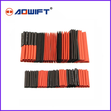 цена на 127PCS 2:1 Heat Shrink Tubing Wire Cable Sleeving Wrap Electrical Connectio G1D3