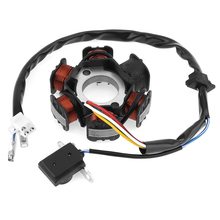 Motorcycle Parts GY6-125 Scooter Generator 6 Coils Magneto Stator for 125cc and 150cc Chinese GY6 Engine ATVs Go Karts Mopeds