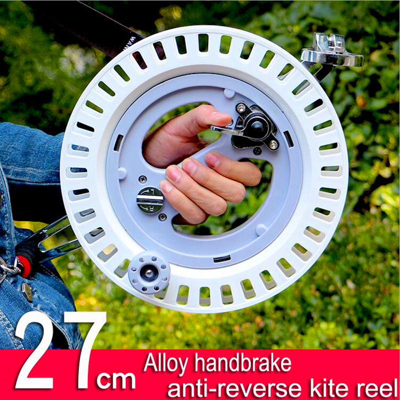 Free shipping high quality 27cm kite reel handbrake anti-reverse wheel outdoor flying kites for adults wind sock eagle factory