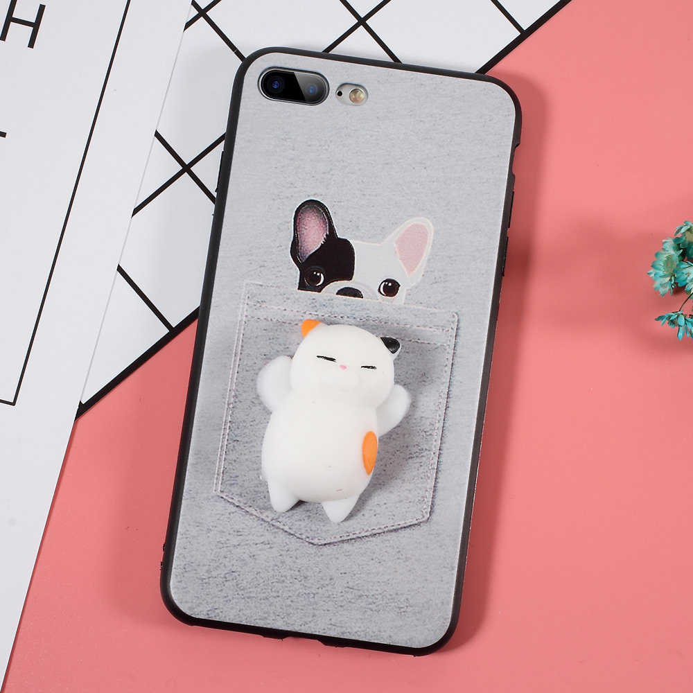 Iphone 6 squishy case - For Iphone 6 7 6s Plus Case Squishy 3d Squish Silicone Cartoon Tpu Cute Soft Cat Phone Case For Iphone 7 Plus 6 Plus Cover Coque