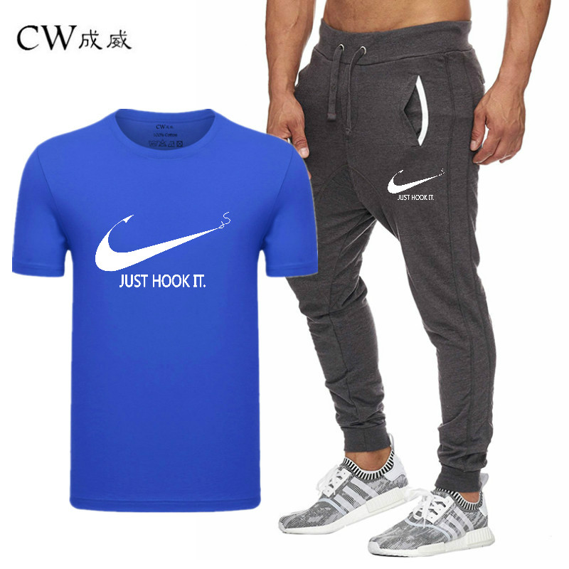 HTB1bdqvVpzqK1RjSZFCq6zbxVXat 2019 Quality Men T Shirt Sets+pants men Brand clothing Two piece suit tracksuit Fashion Casual Tshirts Gyms Workout Fitness Sets
