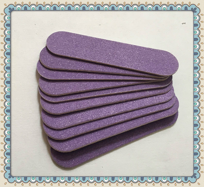 20pcs high quality 60mm purple wood nail files 100/180 HIGH QUALITY Mini hot sale  nail files Manicure nail art