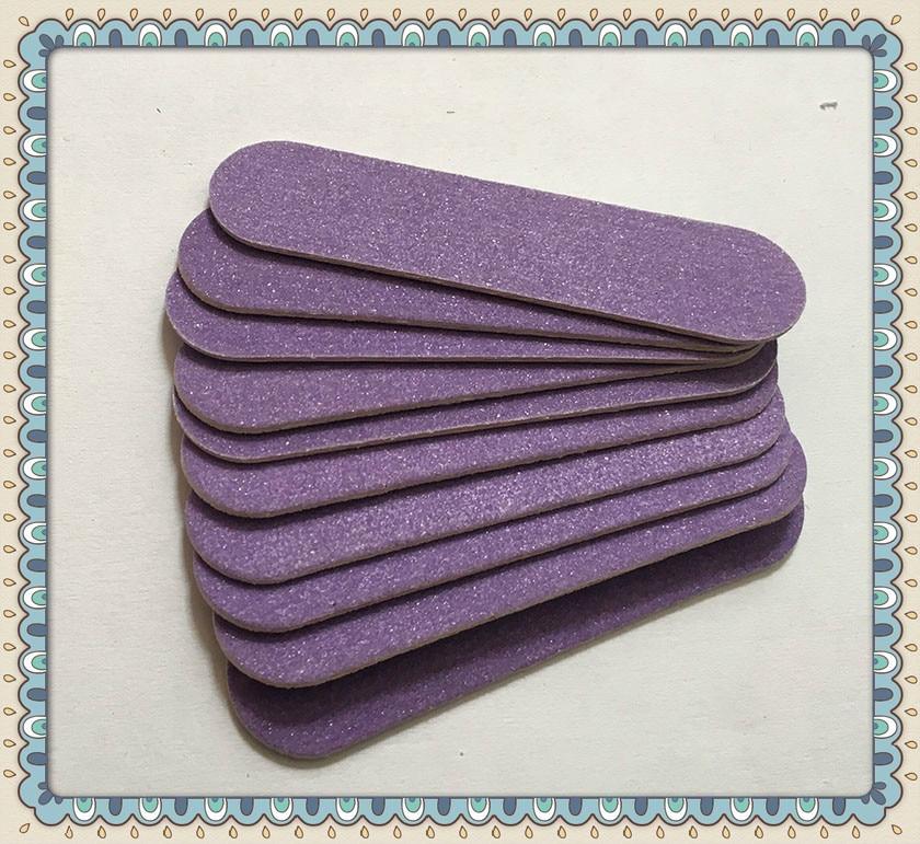 20pcs High Quality 60mm Purple Wood Nail Files 100/180 HIGH QUALITY Mini Hot Sale  Nail Files Manicure Nail Art