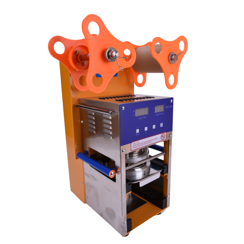 Nova Bolha Xícara de Chá de Vedação Máquina Totalmente Automática de Aço Inoxidável Máquina de Selagem Chá Da Bolha de Plástico Copo Copo Aferidor 110 V /220 V