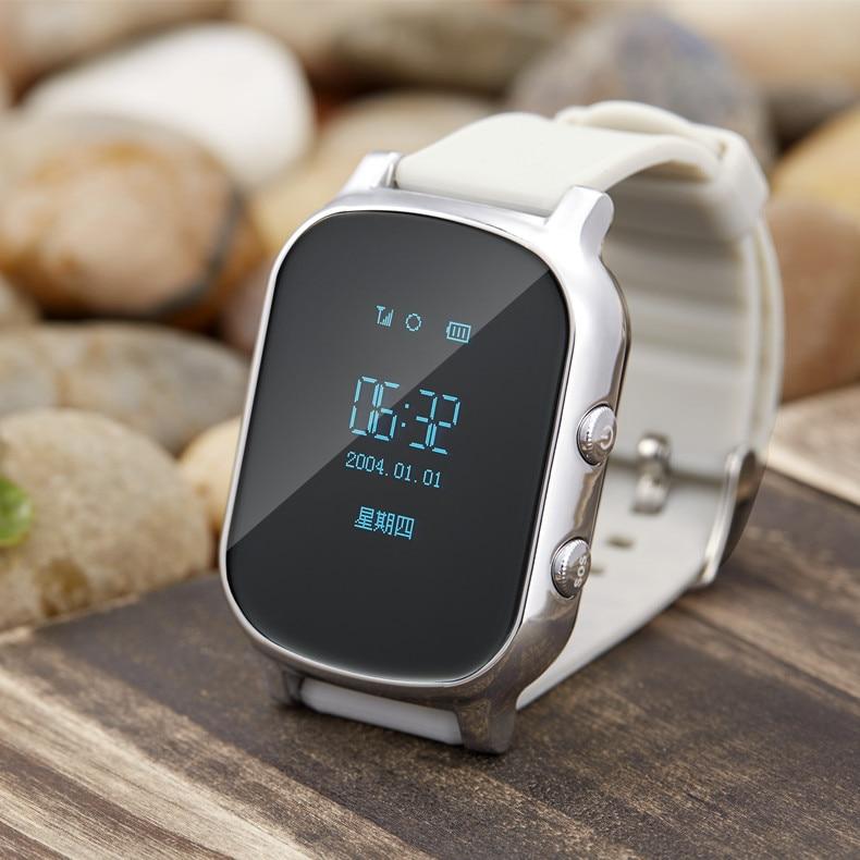 OLED точной дети gsm GPS трекер для детей Малыш Смарт-часы телефон sim SOS умный Браслет T58 детей Просмотрам для IOS Android