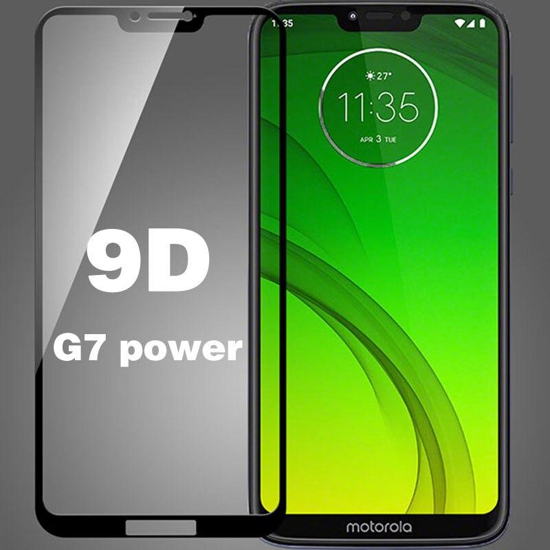 9D For Moto G7 Power Tempered Glass For Moto G7 Power Screen Protector Protective Film Motog7 Full Film Motog 7 Protective Glass