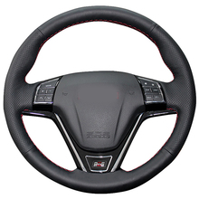 цена High Quality cowhide Top Layer Leather handmade Sewing Steering wheel covers protect For Great Wall Haval Hover H6 Hover H1 онлайн в 2017 году