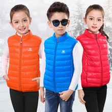 Boys Girls Vests Children Winter Warm Cotton Waistcoats Kids Solid Nice Spring Thick Clothes