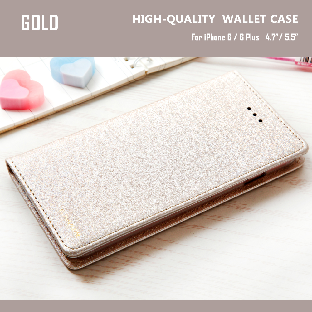 Silk Leather Wallet Phone Case