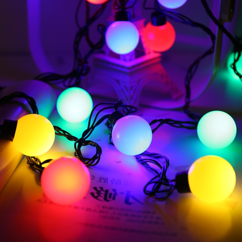 5M 20LEDs Christmas LED Globe String Lights 5cm Ball Bulbs Wedding Party Backyard Patio Ceiling Home Outdoor Garden Decoration