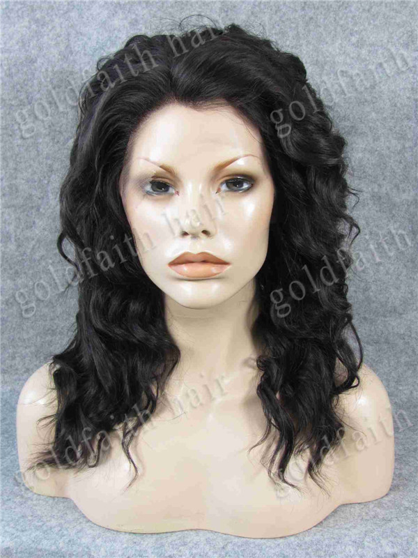 #2/6 Mix Brown Short Fashion Curly Lace Front Synthetic Wig Stylish Kanekalon Fiber Heat Safe Wig S17