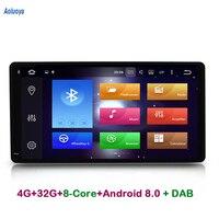 Aoluoya RAM 4GB ROM 32 Octa Core 2 Din Android 8.0 CAR DVD GPS For Toyota Corolla RAV4 HILUX VIOS PRADO Land Cruiser 100 Sequoia