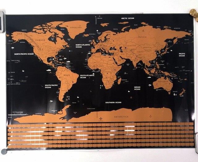 Carte Du Monde Zoomee.7 2 20 De Reduction Carte De Voyage Carte A Gratter Le Monde Pays Drapeau Carte Et Ocean Carte Decor A La Maison Mur Art Artisanat Vintage Affiche