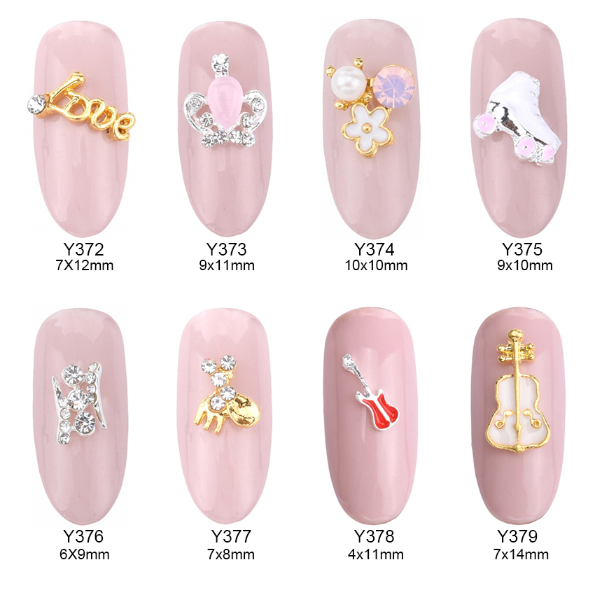 10pcs 3d French Bulldog opal nail art gems butterfly animal design ...
