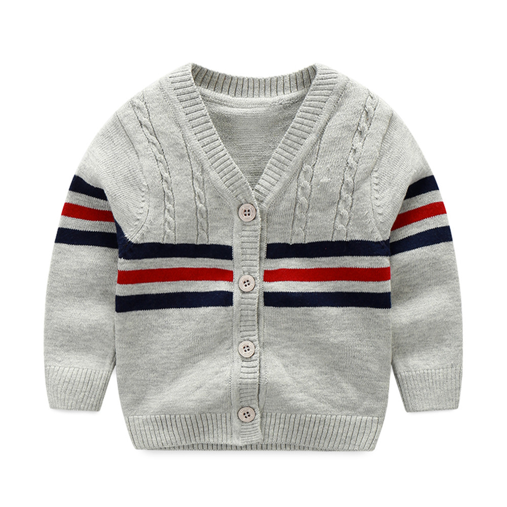 Cotton Baby Sweater V neck Button Crochet Cardigan British Toddler ...