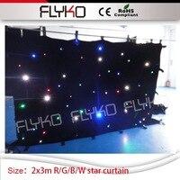 2 mt hohe durch 3 mt breite led stern vorhang R/G/B/W tv bühne hintergrund hochzeit hintergrund dj club led vorhang-in Bühnen-Lichteffekt aus Licht & Beleuchtung bei