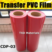 CDP 03 RED PVC transfer vinyl for fabric top quality with size:0.5x25m per roll by free shipping