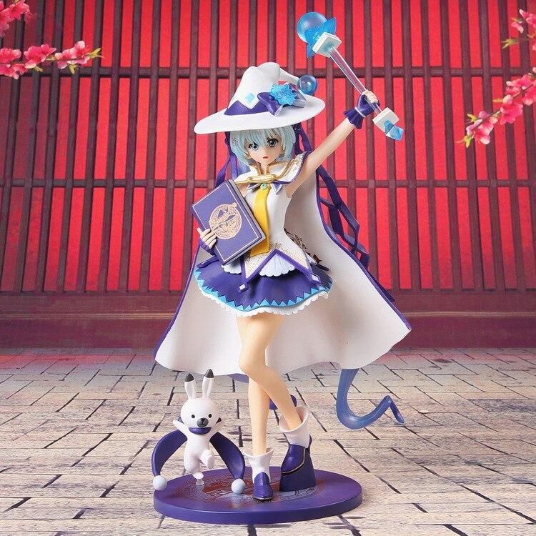 ФОТО Hot 1pcs 27CM pvc Japanese anime figure magic Twinkle Miku Snow MikuYUKI MIKU action figure collectible model toys brinquedos