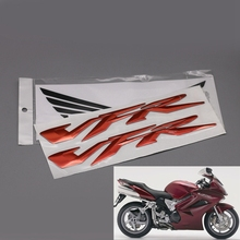 Красный/хром/золото Мотоцикл 3D VFR логотип наклейки Стикеры для Honda VFR400 VFR800 X/F VFR1200 аксессуар с бесплатной наклейка на бак s