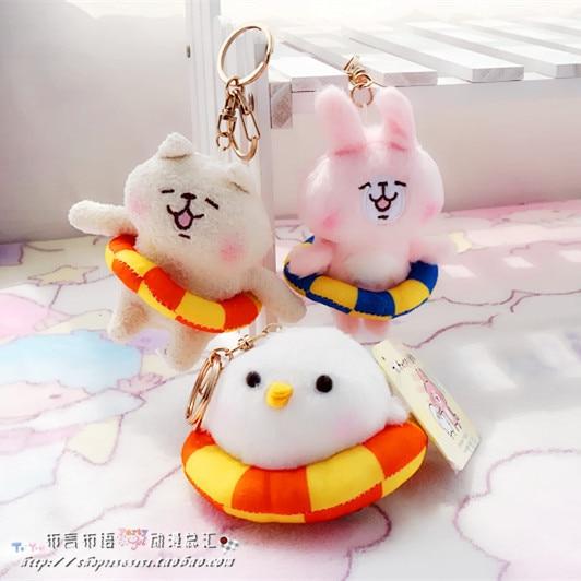 Плюшевая японская игрушка брелок Кролик, курица и собака 1
