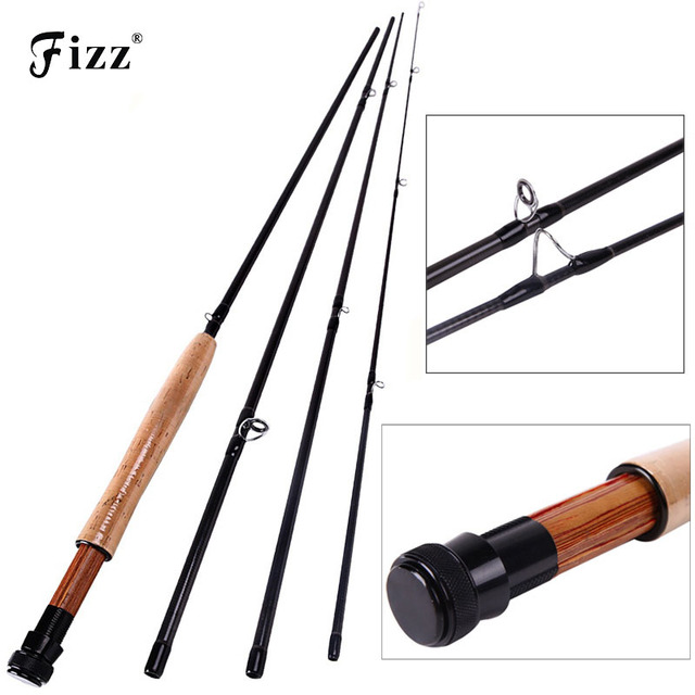 Super Cost-effective Carbon Fishing Rod 4 Sections Ultralight Fly Fishing Rod 2.7M Fishing Tackle Hot Sale