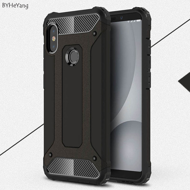 save off 56f72 053d1 US $2.53 6% OFF|BYHeYang Armor Cover For Xiaomi Redmi Note 5 Pro Case  Hybrid Heavy Duty Anti Shock Pattern coque Shockproof On Redmi Note 5  case-in ...