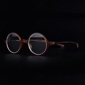1d8ddd6abd Moda Italia diseño TR90 Retro marcos de gafas de lectura de las mujeres de  los hombres de estilo Retro óptico gafas Unisex gafas YJ057