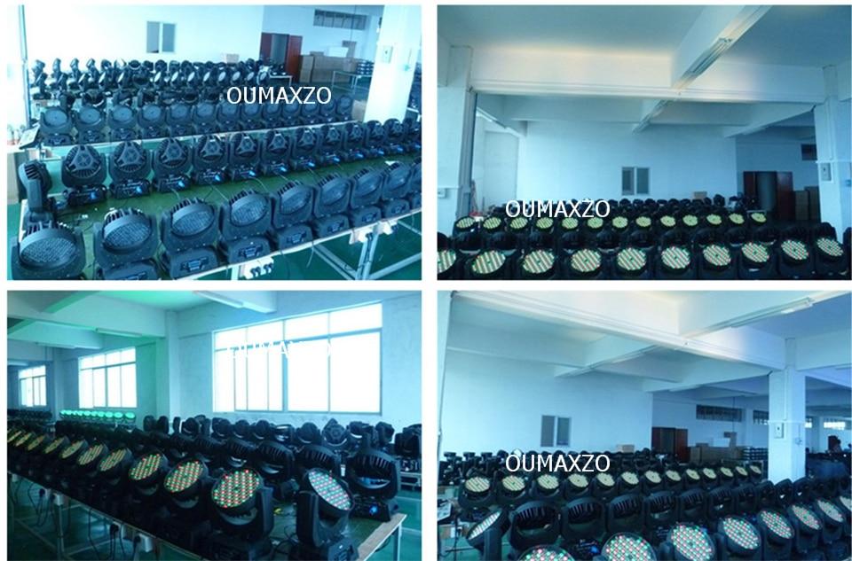 4 pçslote & flightcase Luz Em Movimento