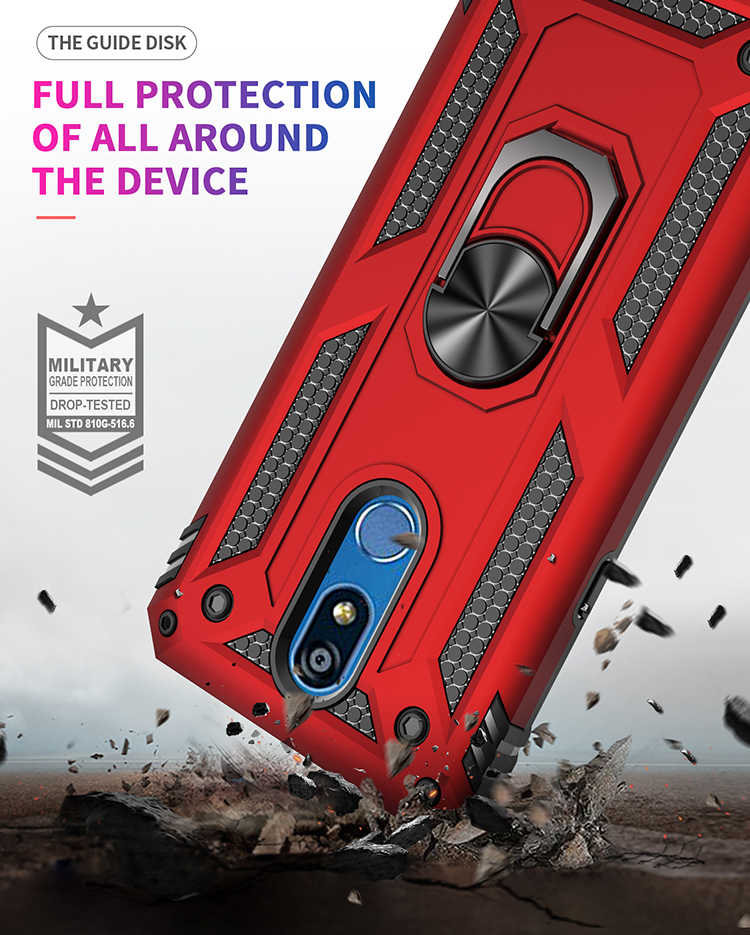Luxury Magnet Metal Case For LG K40 K50 Q60 Aristo 2 3 Armor Shockproof Phone Cover For LG Stylo 4 5 Silicone Bumper Fundas Capa