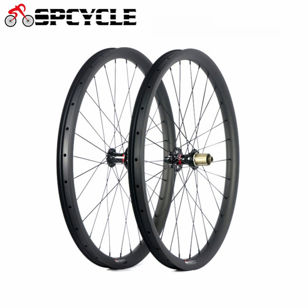 Spcycle 27 5er Carbon MTB Bicycle Wheels 650B Mountain Bike Carbon Wheelsets Novatec 791 792 Hubs
