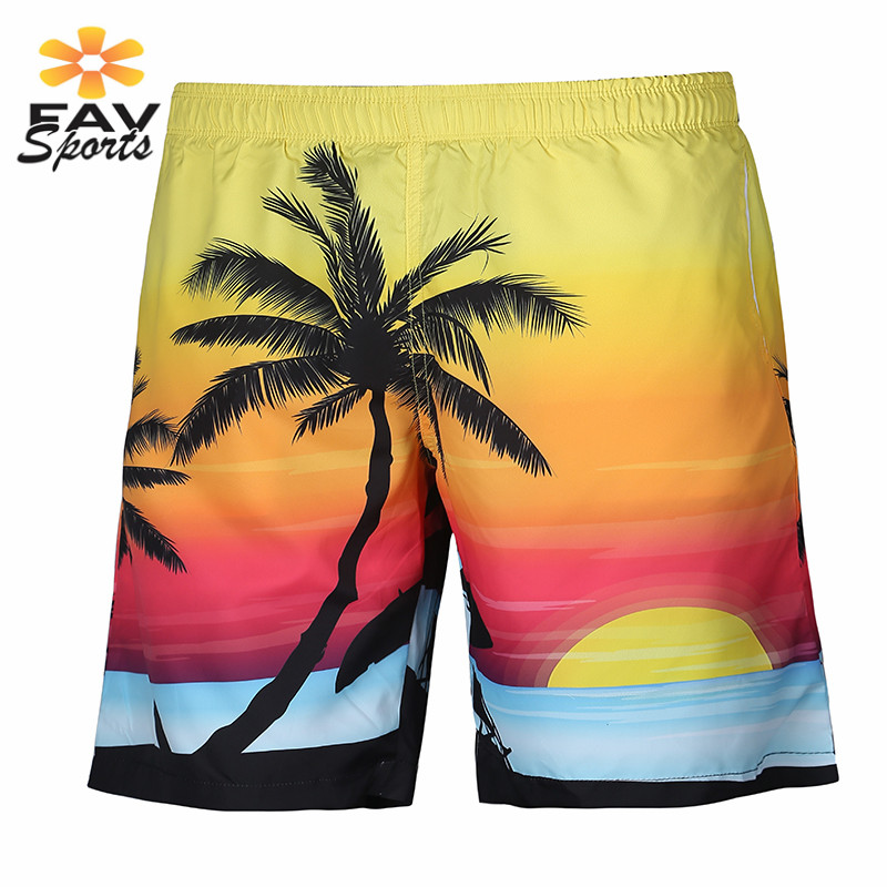 Quick Dry Men Beach   Shorts   3D Printed Summer Swimming Pants Surf   Board     Shorts   Polyester Briefs Swim Trunks