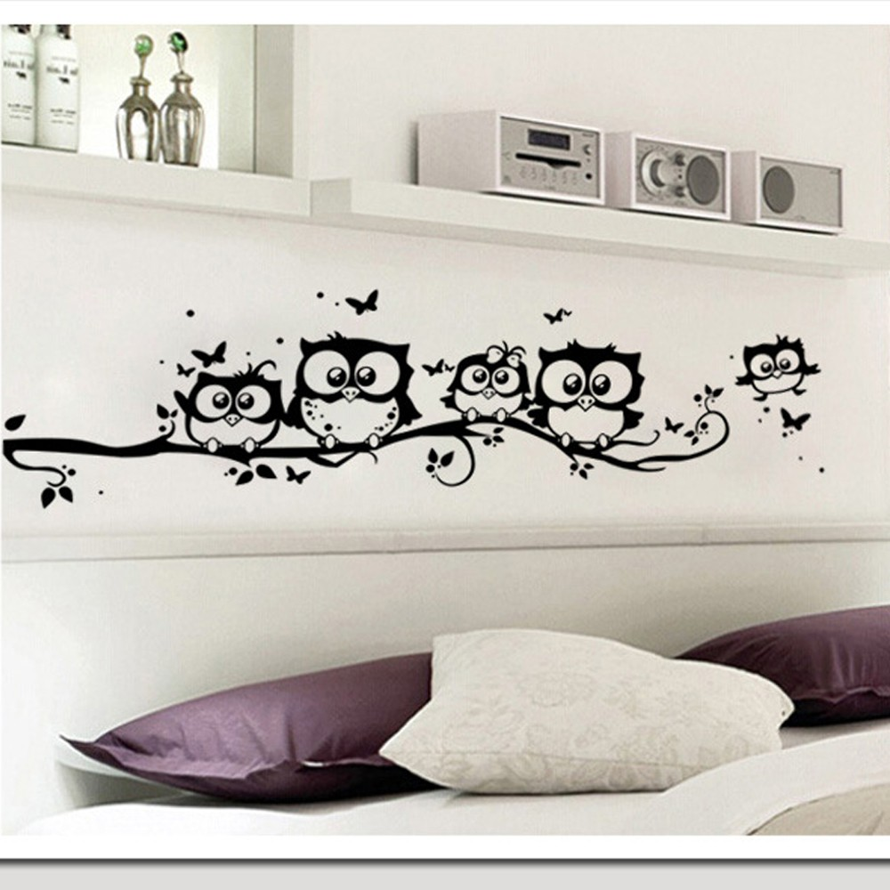 Wall sticker tree animals bedroom owl butterfly wall sticker home aeproducttsubject amipublicfo Image collections