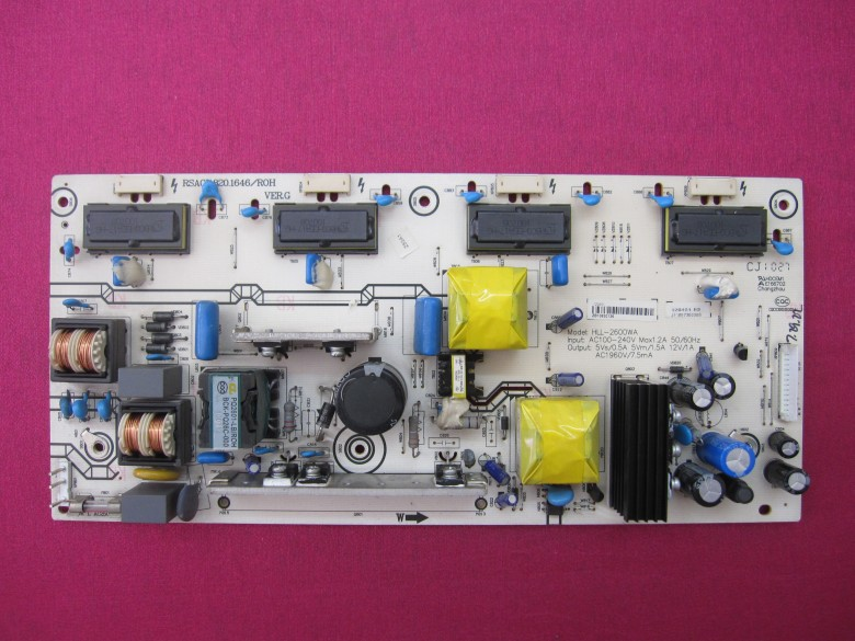 ФОТО Free Shipping>Original 100% Tested Working  TLM26V68 high voltage power supply HLL-2600WA RSAG7.820.1646
