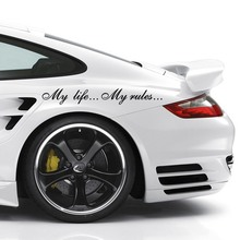8.5*60cm My Life...My Rules... Car Stickers and Decals Auto Sticker Vinyl Car Decals Stickers Motorcycles Decoration