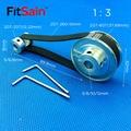 FitSain-2GT 20 T: 60T Ширина 1:3 10 мм коэффициент уменьшения шкива из алюминиевого сплава синхронное отверстие центра колеса 5-6-8-10-12 мм