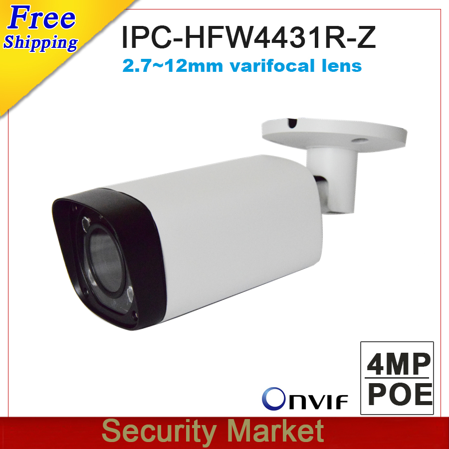 Original dahua IPC HFW4431R Z without logo 4MP POE Bullet Camera 80m IR 2 7 12mm