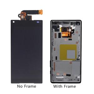 Image 2 - Adecuado para Sony Xperia Z5 original pequeño Digitalizador de pantalla táctil LCD para Sony Z5 mini E5823 E5803 pantalla con marco