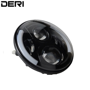 """7"""" Inch 24V 12V 80W Round LED Headlight Kit With CREE LED Chips H4 H13 High Low Beam For Jeep Wrangler JK 2009-2015 for Lada"""