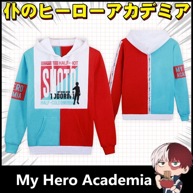 My Hero Academia Anime Cosplay Costumes Shoto Todoroki Kids Adult Hoodies Sweatshirts Jackets Sweater Coat Boku no Hero Academia