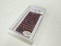 Nieuwe Arrial 0.10mm kleurrijke Extension Valse regenboog kleur Super Soft make mix Kleuren gratis verzending