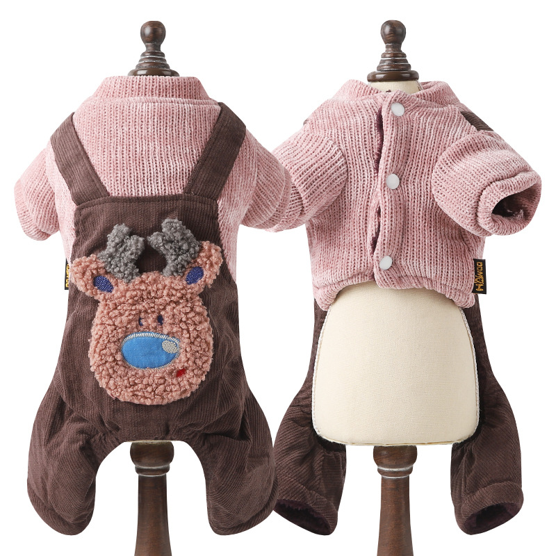 2018 Cute Reindeer Pet Dog Sweater For Autumn Winter Warm Knitting