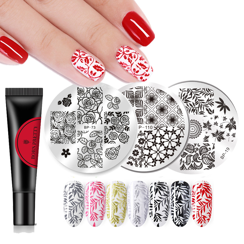 Born Pretty Gel Polish 8ml Nail Stamping Gel Colorful Lacquer Soak Off Varnish Stamping UV Gel For Nail Art Stamping Plate