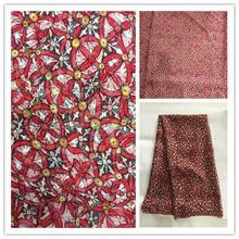 New Summer Print 100%Silk Chiffon Fabric For Women Dress 140cm Wide 6Momme Thin Georgette Fashion cloth DIY Sewing DSF25