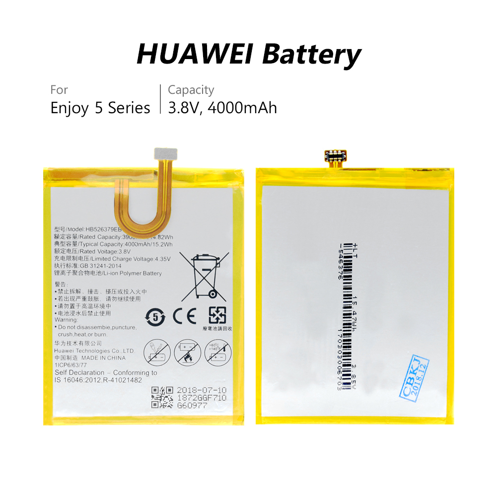 High Quality 4000mAh HB526379EBC Phone Replacement Battery For Huawei Honor 4C Pro Y6 Pro Enjoy 5 TIT-L01 TIT-TL00 CL00 Bateria