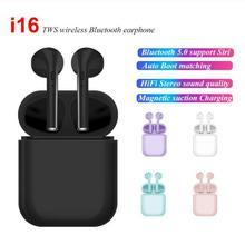 i16 TWS Wireless Bluetooth 5.0 Earphone Earbuds Stereo Binaural call for iPhone