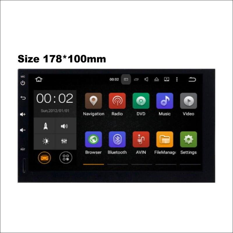 178*100mm voiture Android système multimédia ampli Radio BT HD écran tactile TV GPS Navi Navigation Audio vidéo stéréo pas de lecteur DVD