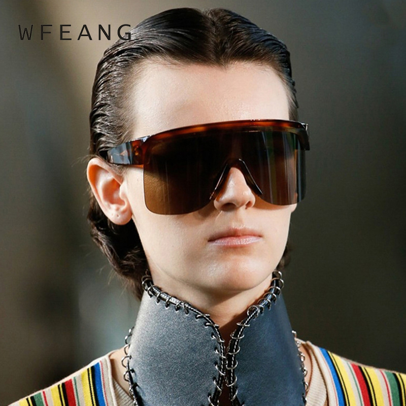 WFEANG Half Frame Men Sunglasses Classic Retro Vintage Sun glasses Women Brand Designer Top Quality UV400
